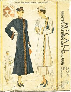 McCall 276 - Used vintage pattern. The pattern pieces are cut. The pattern pieces are printed. Most of the pattern pieces are in fair to good