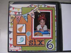 Birthday page idea