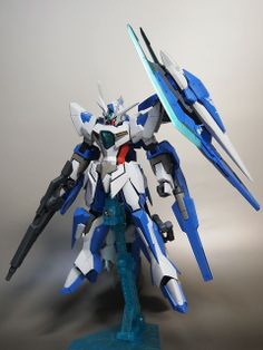 HG 1/144 00 Qan Reborns Gundam custom build - Gundam Kits Collection News and Reviews
