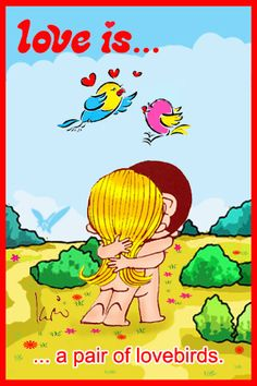 Love is... a pair of love birds