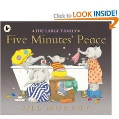 Very cute book about a mother's unsuccessful search for peace and quiet.