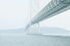 The Akashi-Kaikyō Bridge No Mans Land, White Sand Beach, Blue Aesthetic, Ocean Waves, Seaside, Paths, Art Photography, Sky, Travel