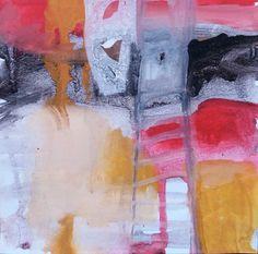 """""""En Esencia"""" Pigmento, resina /papel 15×15 Proceso aditivo en un único sentido; negro, rojo, ocre, blanco."""