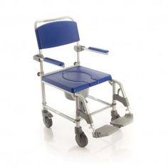 Silla de Baño con WC, Ducha y Transporte #baño #wc #adaptado #discapacitado #minusvalido #disabled #bath #bathroom #toilet #shower #higiene #inodoro #wheels #wheelchair