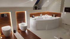 Łazienka na poddaszu w domu jednorodzinnym - zdjęcie od I.N. Projekt - Łazienka - Styl Nowoczesny - I.N. Projekt