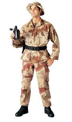 Military Fatigues (BDUs) Desert Camouflage Pants