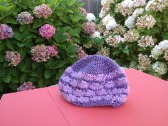 Two tone crochet cap made for Click For Babies Charity, Vancouver.