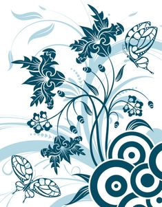 Similar vectors to 1132263 Floral decor