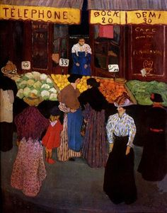 At the Market - Felix Vallotton