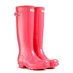 Gloss Wellies   Original Tall Gloss   Hunter Boot (crimson pink)