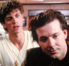 """Eric Roberts and Mickey Rourke in """"The Pope of Greenwich Village"""" 1984"""