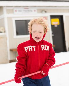 Ravelry: Ski Patrol Hoodie & Mittens pattern by Suzy Allen from Stitch Mountain by Laura Zander