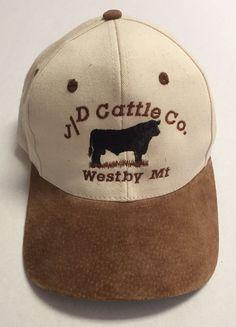 9c969798005 J D Cattle Company Hat Westby Montana MT Baseball Cap Livestock JD Co  Ranching