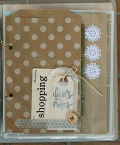 using shipping tags as a place for extra journaling, and adding vellum envelopes with washi tape