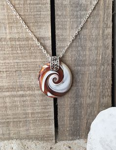 Driftwood Inspired Wave Pendant and Necklace 1 by ShackOnTheBeach