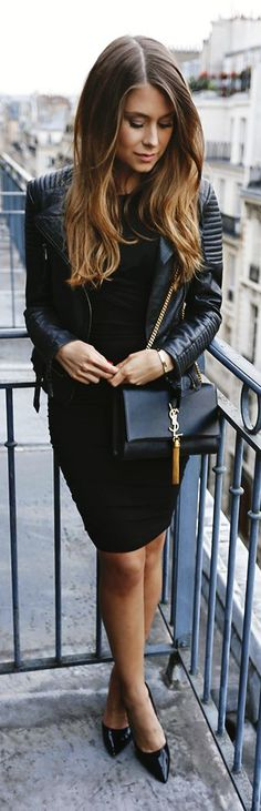 Everything Black Chic Style by Mariannan