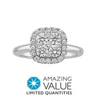 Spectacular Fred Meyer Jewelers ct tw Diamond Engagement Ring