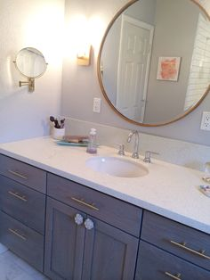 Teen bathroom remodel. Design by Karina Minteer | Bunches and Bits