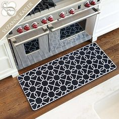 For my new kitchen Suzanne Kasler Quatrefoil Comfort Mat from Ballard designs Flooring, New Homes, Floor Rugs, Decor, Kitchen Comfort Mat, Suzanne Kasler, Ballard Designs, Kitchen Accessories Decor, Home Decor