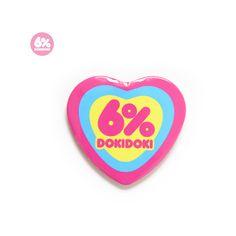 ハート型缶バッヂ LOGO ❤ liked on Polyvore featuring 'accessory, fairy kei and fillers