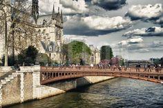 Double Pont Bridge - Notre Dame Cathedral - Paris - France Photographic Print by…
