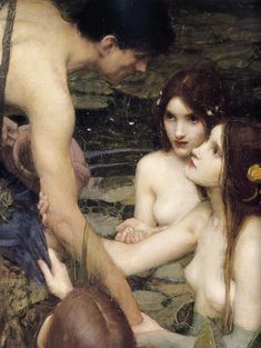 Hylas and the Nymphs, John William Waterhouse, 1896 (detail)