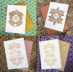 Pretty letterpress cards from Bloomfield & Rolfe. Love the backgrounds too! Filigree — Bloomfield & Rolfe #letterpresscards