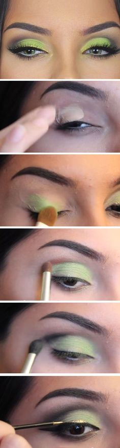 Green And Gold | Click Pic for 15 St Patricks Day Makeup Ideas | Step by Step Eye Makeup Tutorials for Beginners #makeupideasgreen