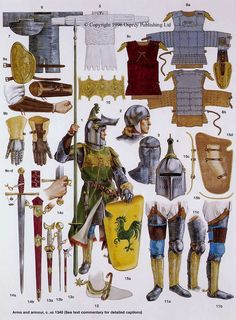 Arms and armour, c. AD 1340