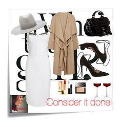"""Consider it done!"" by kellycassie ❤ liked on Polyvore featuring Post-It, Noam Hanoch, Gianvito Rossi, Proenza Schouler, Janessa Leone, NARS Cosmetics, Burberry and iittala"