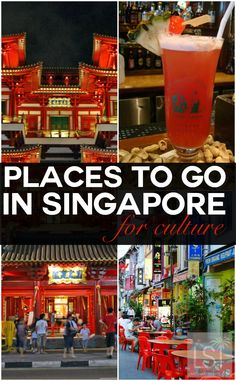 Places to go in Singapore for colourful culture. Singapore is an urban marvel, with an intriguing personality like no other destination. And you don't have to venture far for luxury with hotels, shopping and some of the finest restaurants in Asia tempting more than 15 million visitors each year. Discover more reasons to fall in love with the Lion City in our travel highlights.
