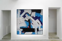 In Blue 2  From the large landscape series, ink and acrylic on paper  Painting on paper in acrylic and ink with enamel marker  Abstract based on the landscape  Inspired by the painter Franz Kline and Antoni Tapies  https://www.saatchiart.com/markfearn https://uk.pinterest.com/fearnfineart/my-art-gallery/