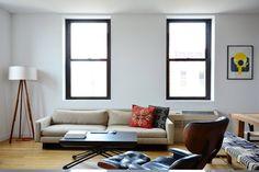 Vigas vistas en un apartamento en Brooklyn