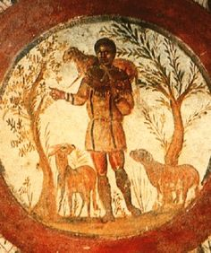 The Good Shepherd, Catacombs of Rome, 3rd C