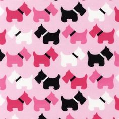 Three fourths pre-cut yard of Robert Kaufman Urban Zoologie (pink/black dogs) fabric from my personal stash! This fabric is out of print and nearly impossible to find any longer.  This adorable fabric comes from my personal stash. I am out of space and need to do a little purging of fabrics. It is definitely one of my faves!  The fabric is pre-cut in a 3/4 yard length. It has been carefully stored in a dry, safe sewing/craft studio. Pet/smoke free. Please note that as it comes from my…