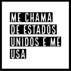 Me chama de Estados Unidos e me USA! 😋🍁🍀... - #carnaval2019 #Festa #frasessoltas #carnavalnafrases #quadrosdecorativos #Quadrosdecorativos #Fun #Diversão #Brasil #frasesengraçadasparastatus #humor #Coisasengraçadas #fotosengraçadas #quadroengraçados #Piadasaleatórias #risofácil #memesatuais #omelhordobrasiléobrasileiro #eita #meubrasilbrasileiro #Meme #Dandorisada #rindoàtoa #ironias Phrase Of The Day, Black & White Quotes, Funny Quotes, Funny Memes, Love You, My Love, Favorite Quotes, Romance, Lol
