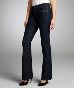DL1961 PREMIUM DENIM INC dark blue stretch denim Jennifer boot cut jeans Review Buy Now