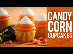 How to Make Candy Corn Cupcakes - YouTube