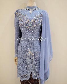 Kebaya Modern Dress, High Neck Dress, Dresses With Sleeves, Formal Dresses, Long Sleeve, Fashion, Turtleneck Dress, Dresses For Formal, Moda