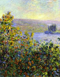 Claude Monet. Flower Beds at Vetheuil (1881).
