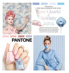 """Pantone Beauty: Rose Quartz & Serenity"" by junglover ❤ liked on Polyvore featuring beauty"