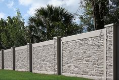 AFTEC provides vertical precast concrete forming technology that cuts cost and increases production efficiency. Want to save money and complete your concrete sound wall? Fence Wall Design, Front Wall Design, Exterior Wall Design, Modern Fence Design, Door Gate Design, Concrete Fence Wall, Precast Concrete, Landscaping Retaining Walls, Modern Landscaping