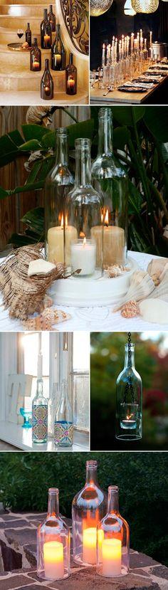 bottles candles