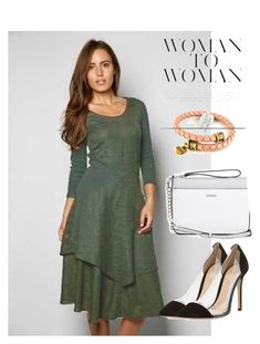 """""""dress"""" by masayuki4499 ❤ liked on Polyvore featuring Gianvito Rossi, GUESS and Alex and Ani"""