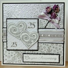 Silver wedding anniversary card.