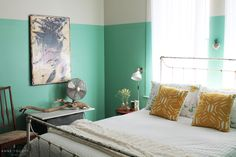"""I. Love. Farrow & Ball """"Arsenic"""" No. 214. It's not going to kill you–it's going to make your life heavenly! Go buy a gallon and transform a wall or two."""