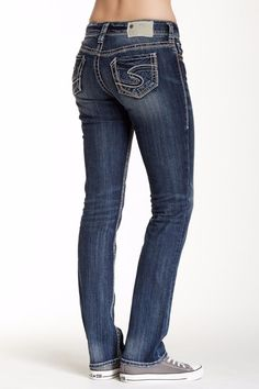 SILVER JEANS SALE BUCKLE Dark Embellished Suki Slim Bootcut Jean ...
