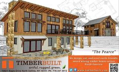 Our latest Timber Home LIving ad featuring the distinct and dramatic Pearce Timberbuilt. http://www.timberbuilt.com/building_plan/timber_frame_homes_the_pearce_timberbuilt/index.html