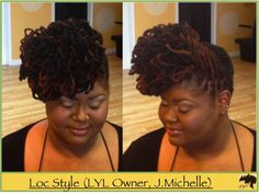 dreadlock styles in georgia | kinky nappy style updo pinup braid curl pipe cleaner crinkle style ...