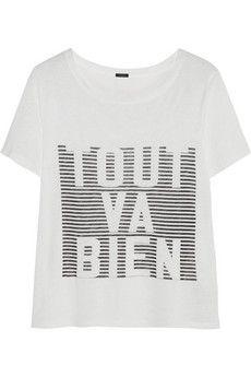 J.Crew 'Tout Va Bien' linen T-shirt | NET-A-PORTER Size S http://www.net-a-porter.com/product/448794/JCrew/-tout-va-bien-linen-t-shirt